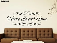 Mad World-HOME     sparadrap muraux avec citations de maison douce  sparadrap dart  decoration de maison  DIY bricolage  Stickers muraux amovibles  decor de salle  A01