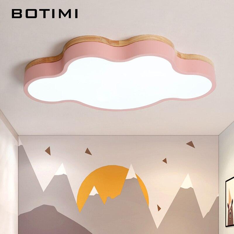 Потолочные светильники BOTIMI, светодиодные в форме облаков, с пультом дистанционного управления, современные потолочные светильники для гос...