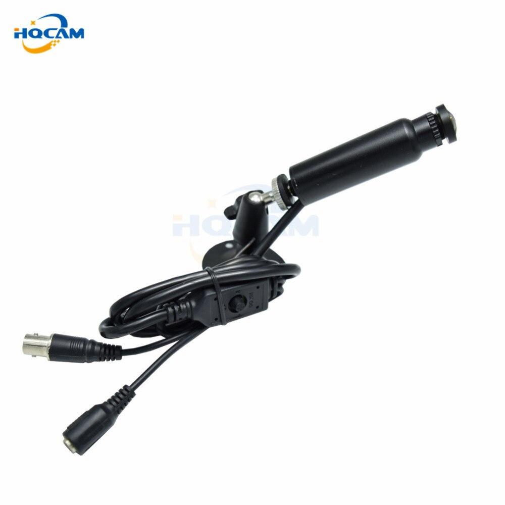 Hqcam 2.1mm lente 150 graus sony ccd effio-e 4140 + 810  811 700tvl osd menu mini bala câmera de segurança interior industria