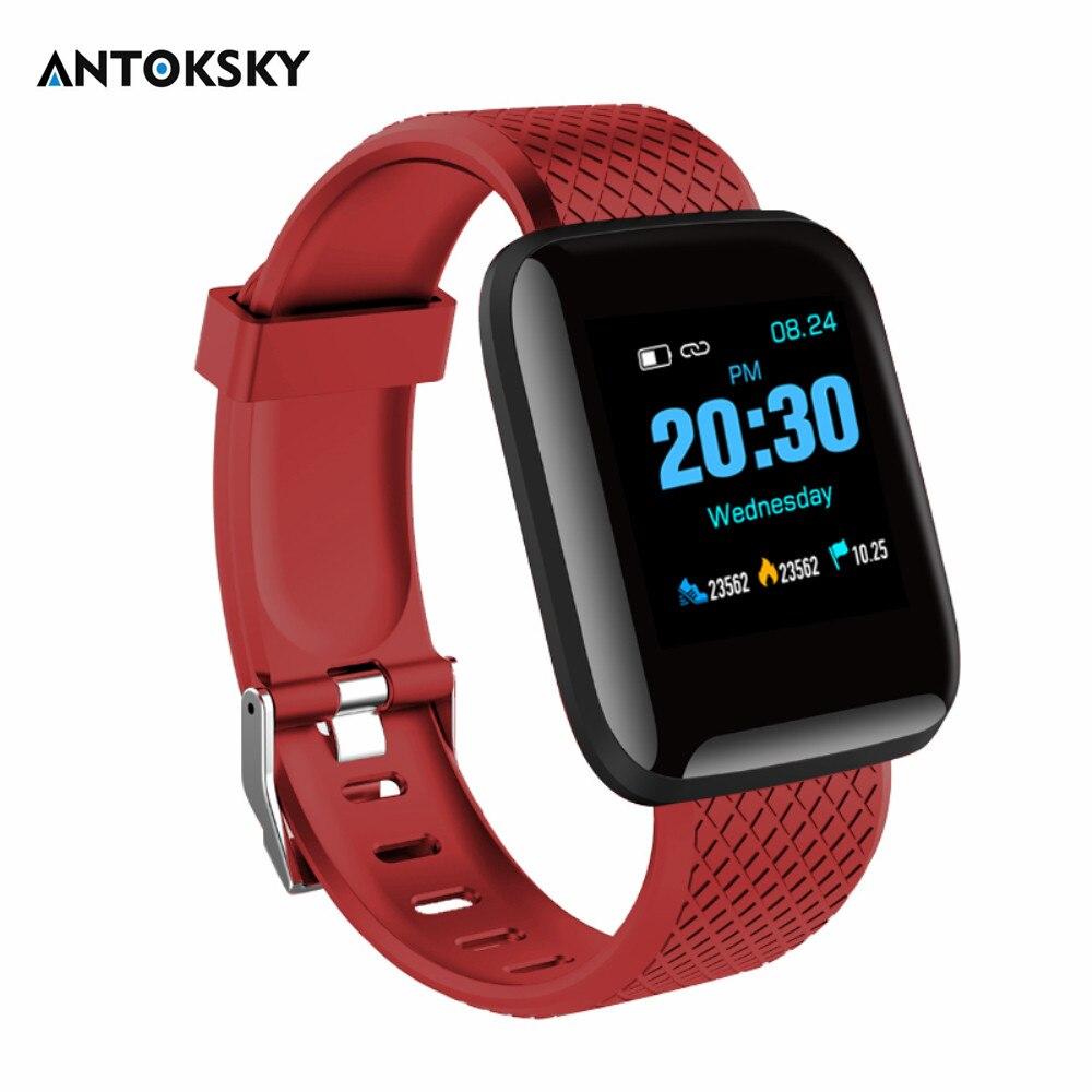Antoksky D13 pulsera de Fitness inteligente podómetro para hombre, Monitor de presión arterial, pulseras inteligentes, Tacker de Fitness para teléfono Android IOS