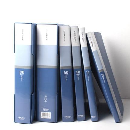 Büro Schreibwaren Business A4 Deutlichen Buch 20/30/40/60/80/100 Taschen Dateiordner dokument Ordner Präsentationsmappe