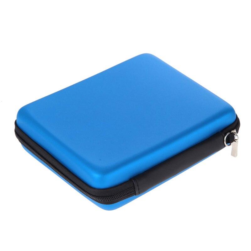 Anti-choque hdd saco de disco rígido caso com zíper bolsa protetor externo capa hdd eva saco com alça para nintendo 2 ds console azul