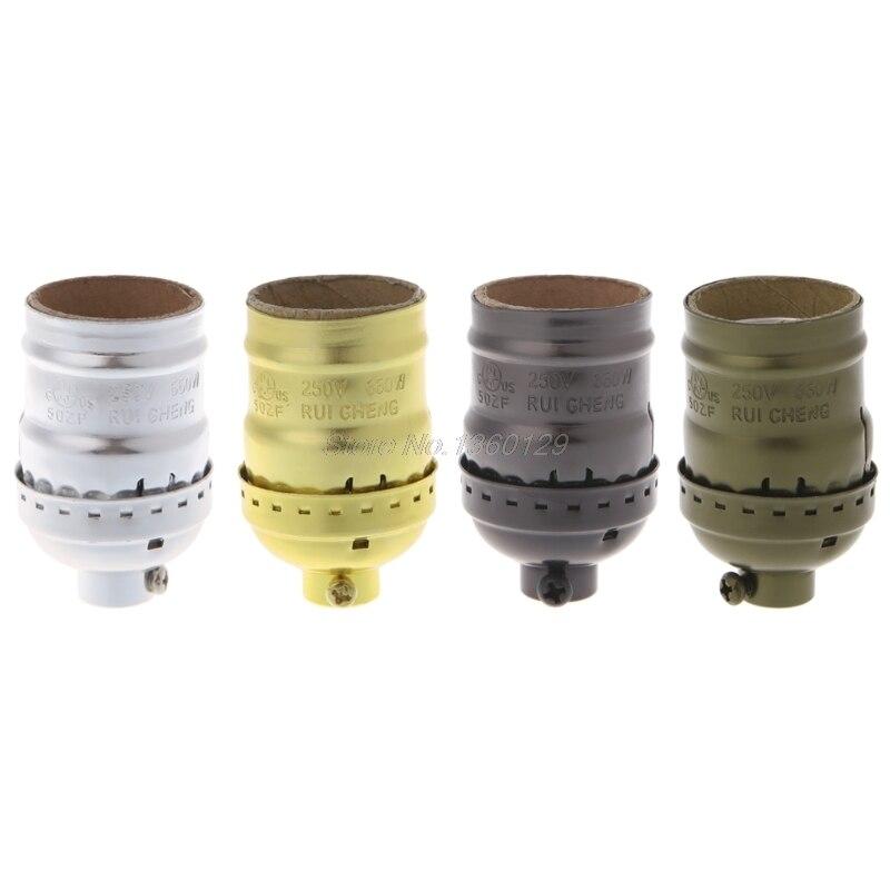 E26/E27 Aluminum Retro Pendent Vintage Light Bulb Lamp Holder Socket Without Switch Wholesale&DropShip