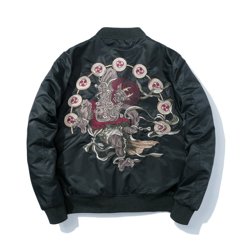 Chaqueta Bomber para hombre, chaqueta de invierno con bordado de Anime Pilot Harajuku, ropa informal japonesa, chaqueta de béisbol gruesa cálida, informal para jóvenes, nueva