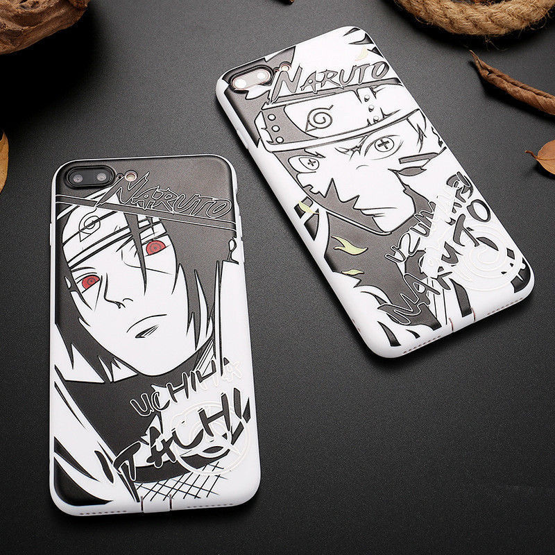 Dibujos animados de Naruto Sasuke Kakashi caso para iPhone XS Max XR Itachi Minato funda de silicona suave para iPhone X XS X XR 6S 6 7 8 Plus Coque