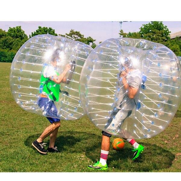 Free shipping 1.0mm PVC 1.8m diameter human bubble suits,bubble kicks,bumper ball for big heavy players