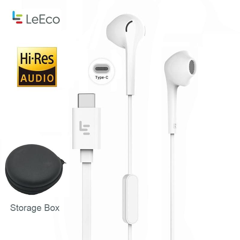 LeTV Leeco CDLA Type-C Earphone Add Touch U holder Black Storege Box Keeper Hi-Res 96K/24bit output In-Ear Headset LePDH401CH