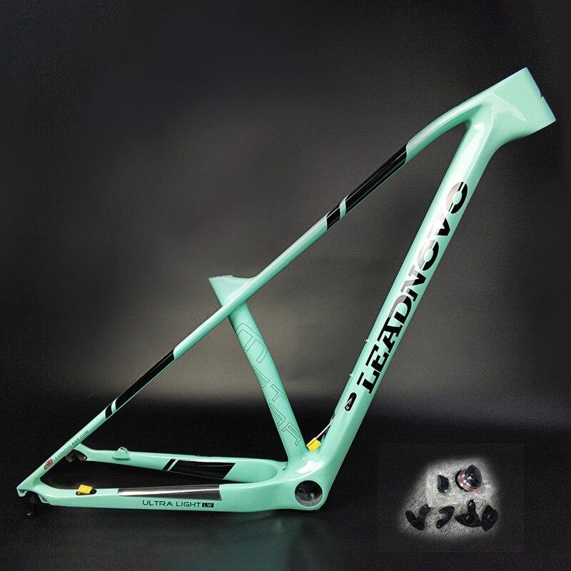 2019 Marco de bicicleta MTB fibra de carbono súper ligero Marco de bicicleta de montaña China Taiwán Oem Marco de carreras de carbono 135mm 142mm