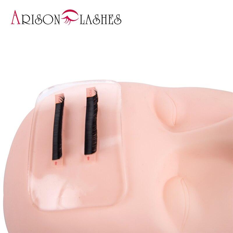 Almohadilla de silicona Flexible Arison para extensión de pestañas, fácil selección de pestañas individuales