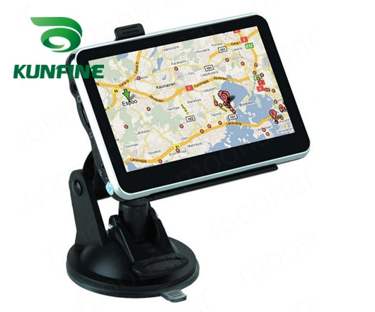 4,3 pulgadas WinCE 6,0 Radio, navegación GPS para coche 8GB 256M camión vehículo navegadores GPS camión mapa gratuito Actualización de transmisión FM MP3 MP4