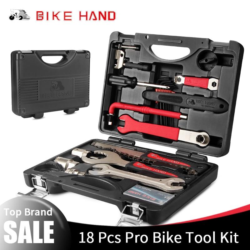 BIKEHAND 18 en 1 Multiful Kit de herramientas de bicicleta herramienta de reparación de bicicletas portátil caja Set llave hexagonal llave removedor manivela tirador herramientas de ciclismo