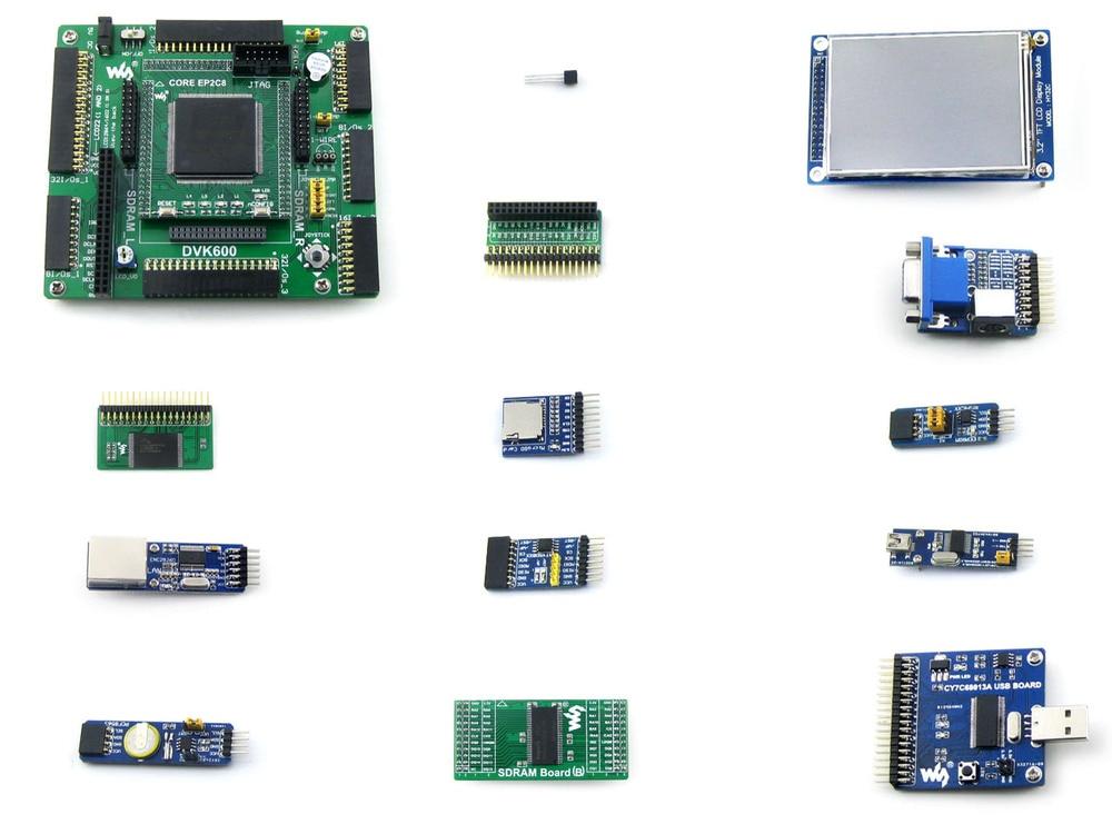 OpenEP2C8-C Package A # EP2C8Q208C8N ALTERA Cyclone II FPGA Development Board+3.2inch 320x240 Touch LCD+12 Modules
