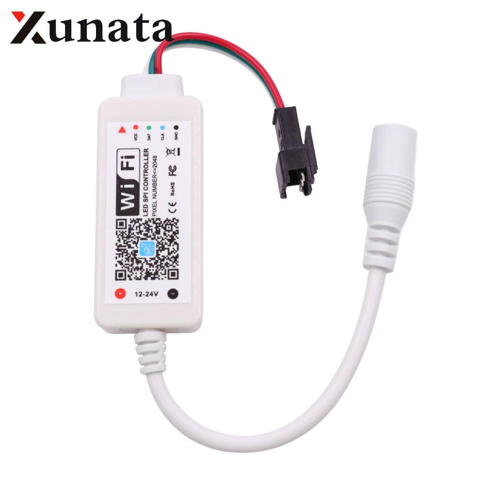 DC12-24V пикселей мини WiFi контроллер для WS2801 WS2811 LDP6803 SK6812 WS2812B Светодиодная лента 14Key 24Key ИК пульт дистанционного управления