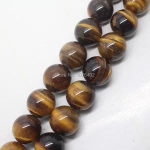 "Free shipping!Wholesales 20pcs,20mm Beautiful Yellow Tiger's Eye Round Loose Beads 15"""