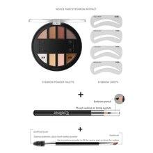 2 styles sept ensembles de poudre de sourcil ensemble professionnel imperméable à leau longue durée maquillage forme naturelle sourcils poudre Palette