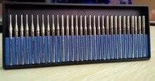 Talentool dremel uso D3mmXL45mm 30 pz/set 1-2-3mm Diamante Elettrolitico Nucleo Drill bave Foro Cutter bit per Gemme di Vetro Solido