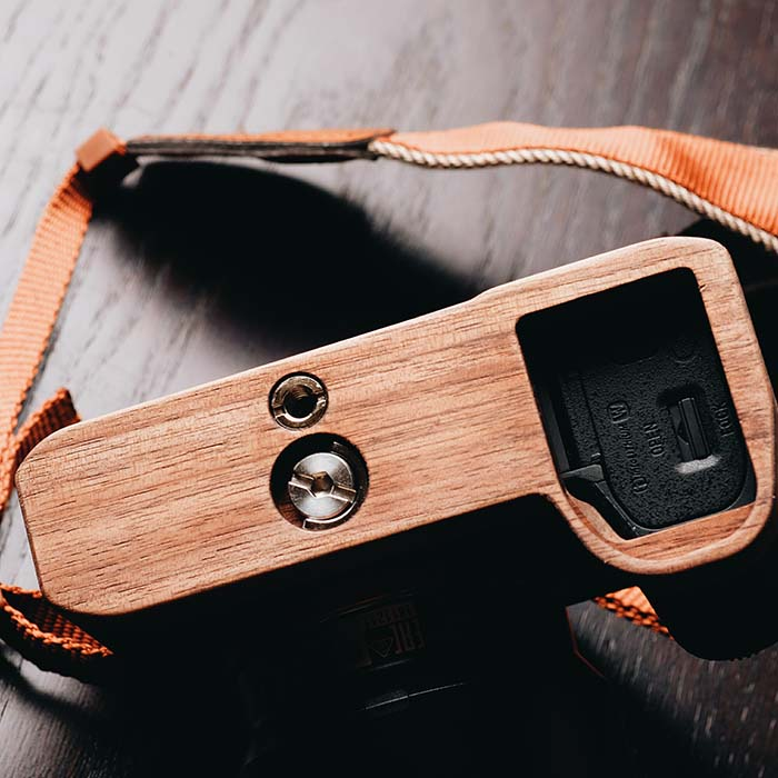 High Quality Handmade Wooden Base Quick Release L Plate / L Bracket fit for Sony A7II A7RII A7SII A7M2 enlarge