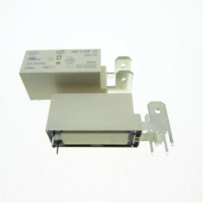 HOT NIEUWE 12 v relais HF115F-Q-012-1H HF115F-Q 012-1 H JQX-115F-Q 012-1 H 20A 12VDC 12 v DC12V 20A 250VAC