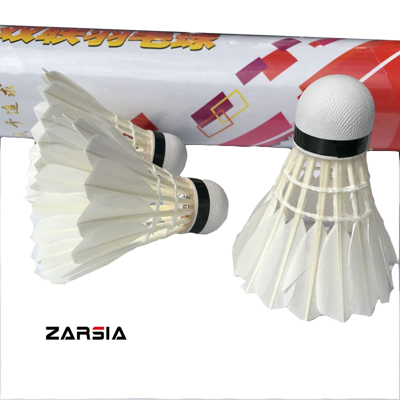 1 tubo velocidade 77 raquete badminton peteca Badminton peteca de penas de pato (12pcs/tubo)