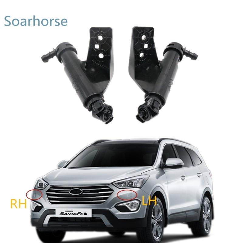 Soarhorse para coche faro aspersor de arandela de la boquilla de chorro de agua actuador para Hyundai GRAND SANTA FE, 2013, 2014, 2015, 2016