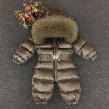 Russian Winter -30 Degree Baby Rompers Winter Thick Boys Costume Girls Warm Snowsuit Kid Jumpsuit Kids Outerwear Baby Wear