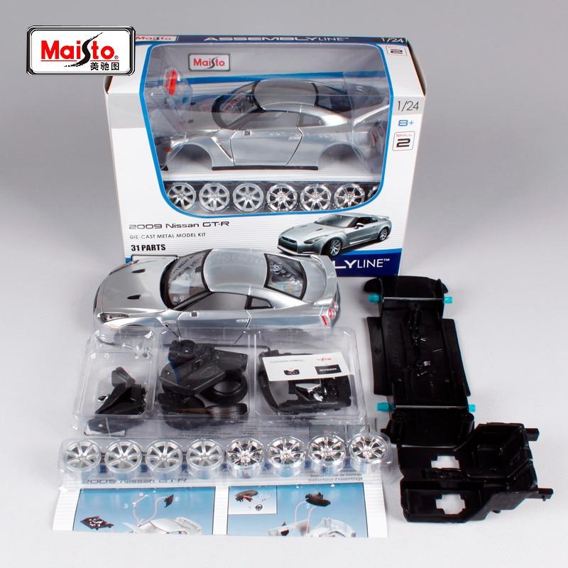 Maisto 124 Nissan GTR GT-R в сборе, литая под давлением модель автомобиля, новая в коробке, бесплатная доставка, 39294