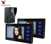 yobang security touch key doorbell 7 color door monitor video intercom doorphone intercom system waterproof door intercom