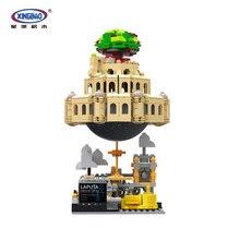 XINGBAO 05001 творческая серия MOC 1179 шт город в небе набор с музыкальной коробкой строительные блоки кирпичи замок модель игрушки для взрослых