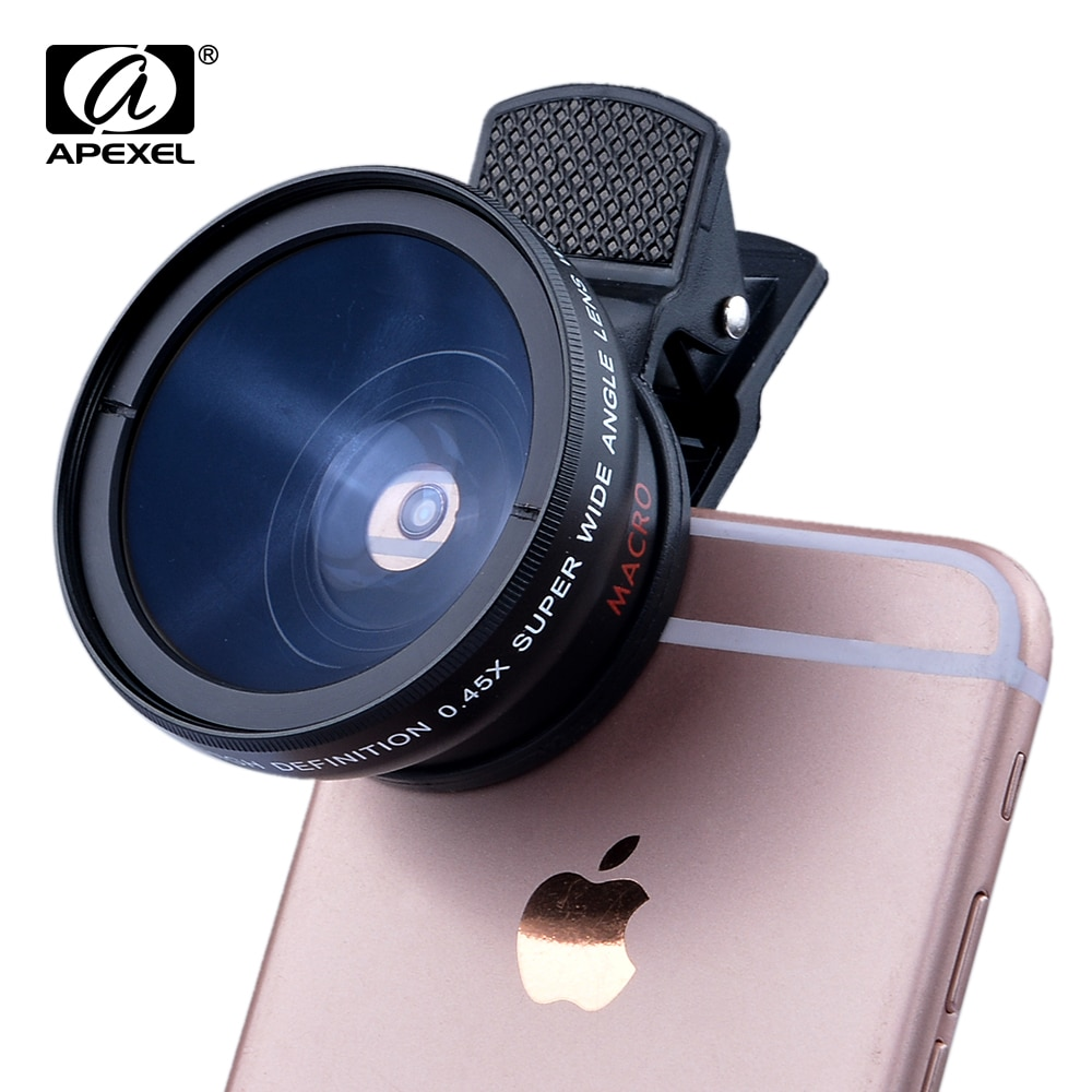 Новые HD 37 ММ 0.45x Супер Широкоугольный Объектив с 12.5x Супер Макро-Объектив для iPhone 6 Plus 5S 4S Samsung S6 S5 Примечание 4 объектива Камеры комплект