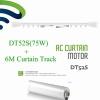 Dooya DT52S Electric Curtain Motor Open Closing Motorized 75W 220V Motor 6M Window Curtain Rail Track Smart Home System