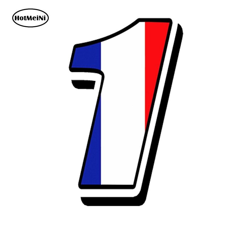 HotMeiNi 13х10 см Виниловая наклейка для гонок с французским флагом, для мотокросса, GP, авто, квадроцикла, велосипеда, водонепроницаемые аксессуар...