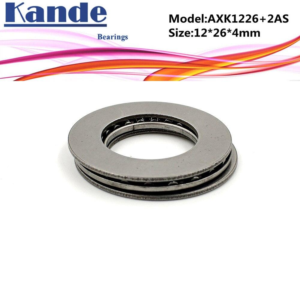 AXK1226 + 2AS  1PC Thrust Needle Roller Bearing With Two AS1226 Washers 12*26*4 mm  Plane Thrust Needle Roller Bearing