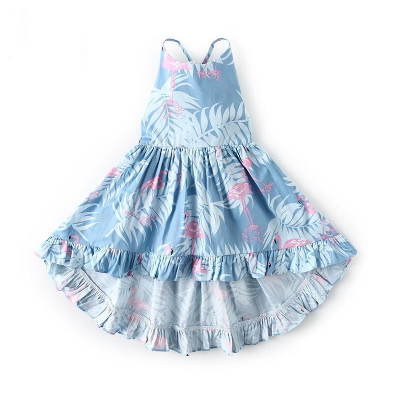 Детская одежда, летние платья с цветочным принтом для маленьких девочек, модная юбка, повседневные Детские платья без рукавов, Длинные праз...