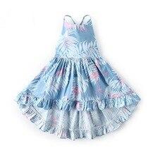 Children's Clothing Summer Baby Girls Floral Dresses Fashion Skirt Casual Children Sleeveless Dresses Long for Holiday