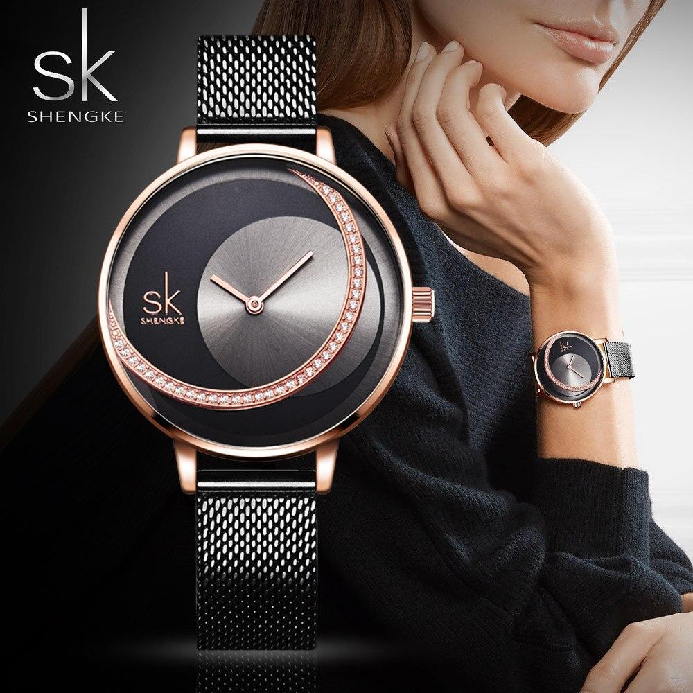 SK reloj de cuarzo de marca de lujo para mujer reloj minimalista para mujer para Montre Femme 2019 reloj femenino zegarek Damski