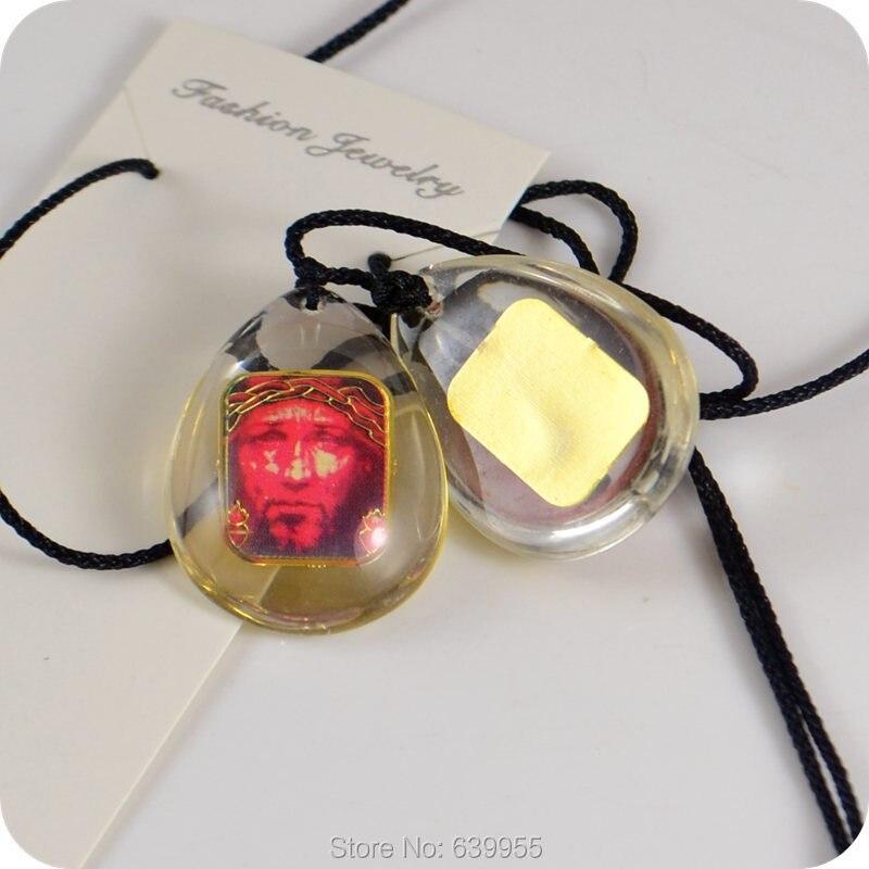 NEUE Design Jesus leiden crown dornen Glas Anhänger Halskette Katholischen Christan Orthodoxe Mode Religiöse schmuck