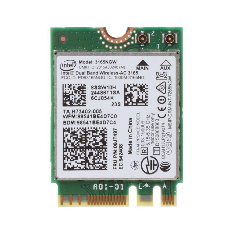 tablet-Intel 00JT497 3165NGW Wireless-AC Dual Band for Lenovo ThinkPad Bluetooth WiFi IBM Card Laptop NGFF Wlan