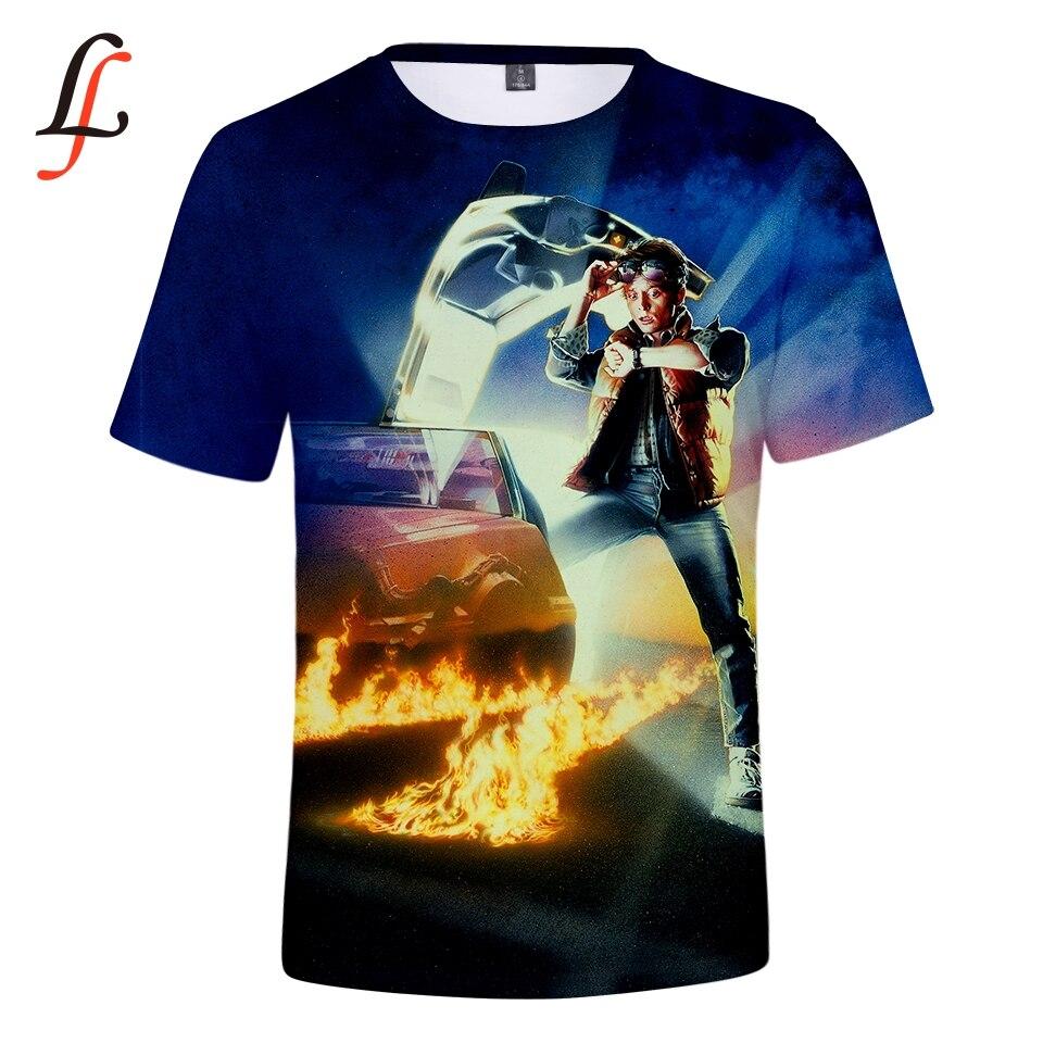 Modis para el futuro t shirt 3D imprimir Marty y su energía de fusión futuro coche estilo hip hop camiseta streetwear tops de verano