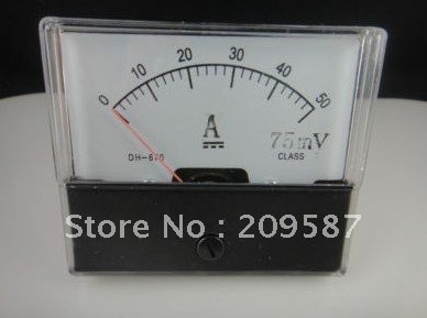 Analog Amp Panel Meter Current Ammeter DC 0-50A + Shunt
