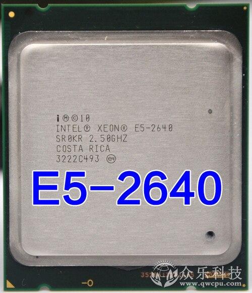 Intel Xeon E5-2640 E5 2640 15 м кэш 2,50 ГГц 7,20 GT/s центральный процессор E5 2640