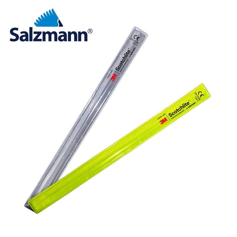 Salzmann 3 mt Scotchlite Reflektierende Slap Wrap Silber 3x38 cm Snap Band 2 stücke