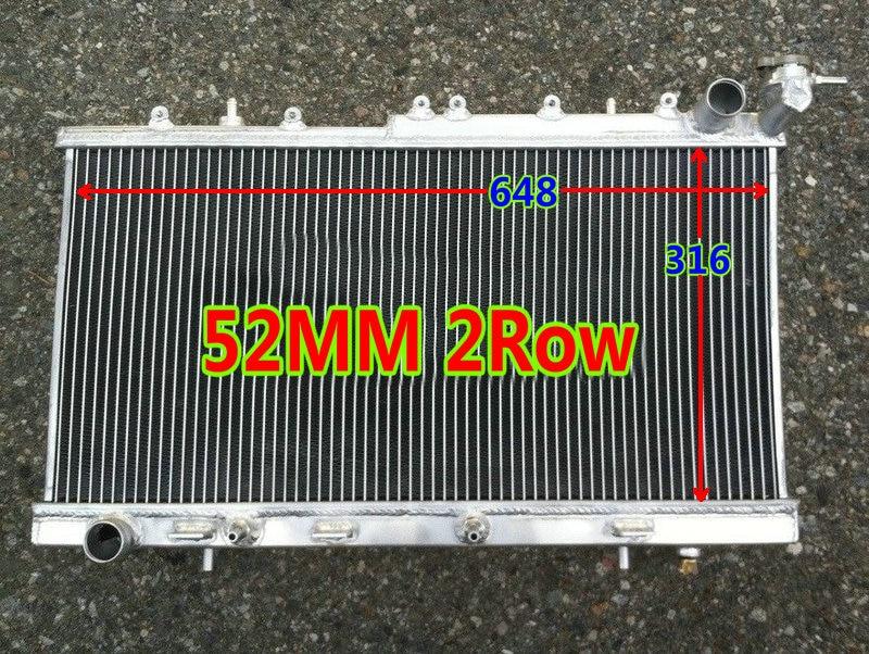52mm ALUMINUM RADIATOR FOR Nissan Sentra /NX COUPE /200SX SR20DE 1.6/2.0L I4 Engine 1991-1999 93 95 98 97