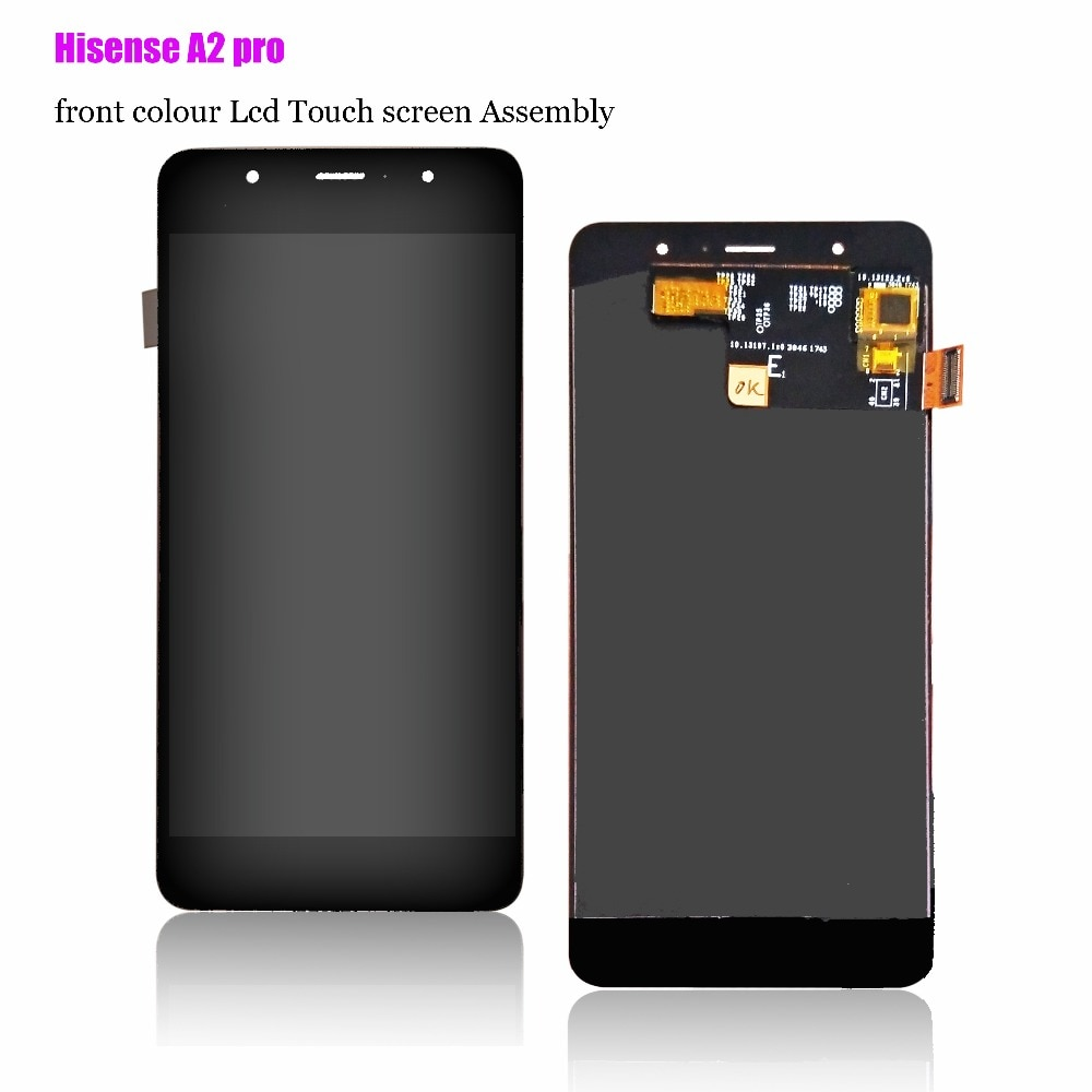 Nuevo origen, pantalla frontal Hisense A2 pro, pantalla LCD con pantalla táctil para Hisense A2 pro bank, montaje de pantalla de tinta