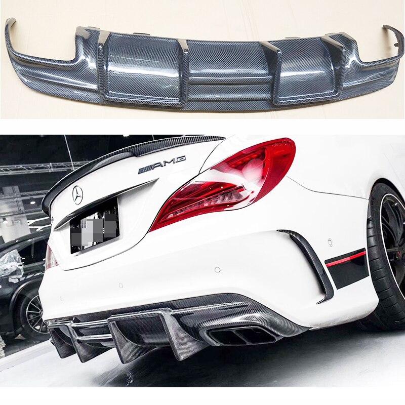 Difusor de labio de parachoques trasero, difusor de aire para Mercedes Cla clase W117 CLA220 200 260 CLA45, labio trasero con 4 salidas de escape