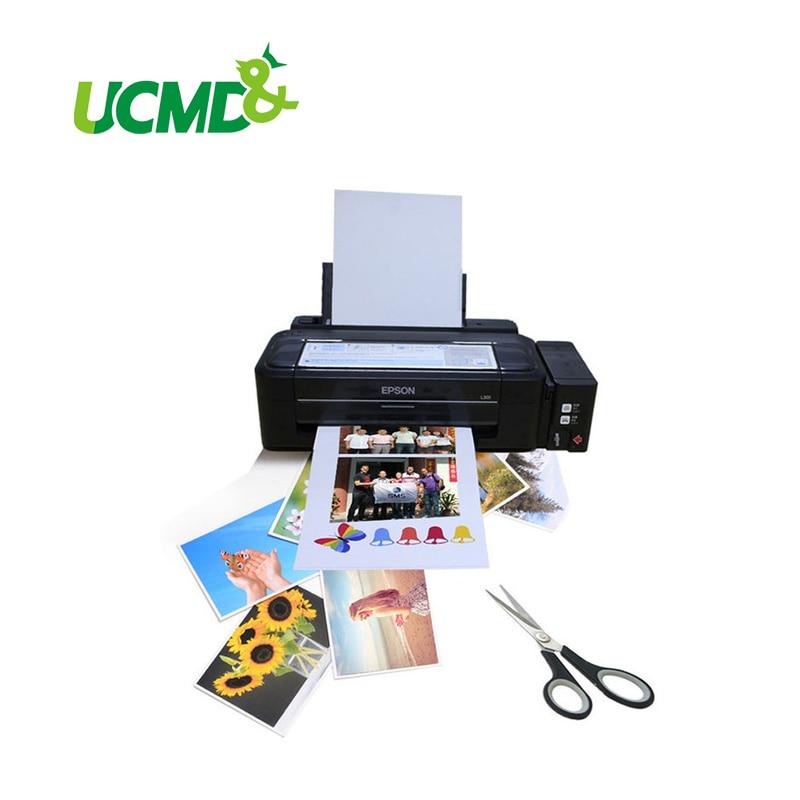 Papel fotográfico magnético para impresiones digitales, paquete de 5 unidades de hoja en blanco para impresión fotográfica digital con reverso de imán, tamaño A4 (210X297 mm)