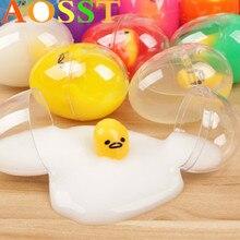 Nouveauté Gag jouet blagues pratiques Antistress vomissement jaune doeuf paresseux frère amusant Lizun Gadget pressé jouets de Simulation pour enfants