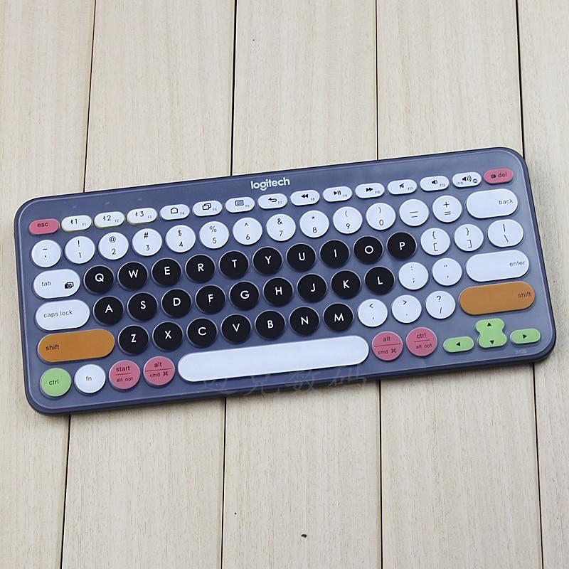 Funda protectora de silicona para teclado piel impermeable ordenador de sobremesa kyeboard película protectora para Logitech K380