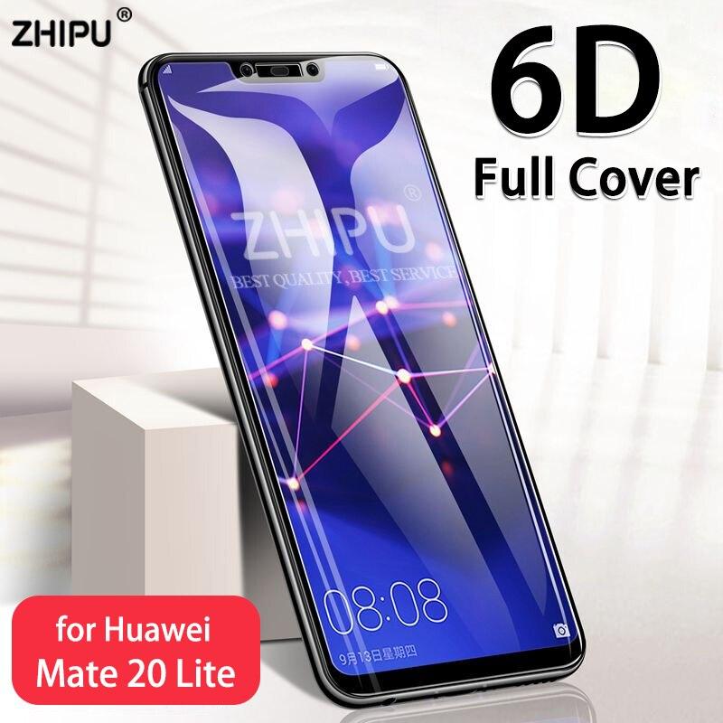 Vidrio Templado 6D para Huawei Mate 20 Lite, película protectora de pantalla curvada para Huawei Mate 10 Lite