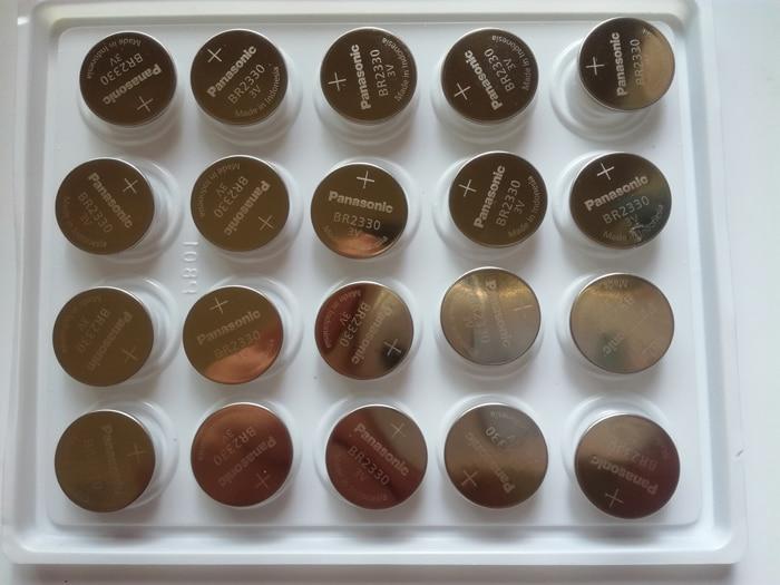 10 unids/lote nuevo original Panasonic 3V BR2330 BR 2330 Botón de alta temperatura pila de moneda baterías envío gratis