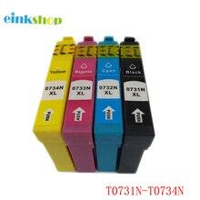 Einkshop T0731-T0734 Cartouche Dencre Pour Epson T0731 CX7300 CX8300 TX210 C79 CX3900 CX3905 CX4900 CX4905 CX5500 CX5600 CX5900